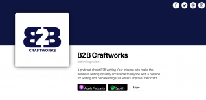 B2B Craftworks - Podcast About Business Writing - Sarah Greesonbach